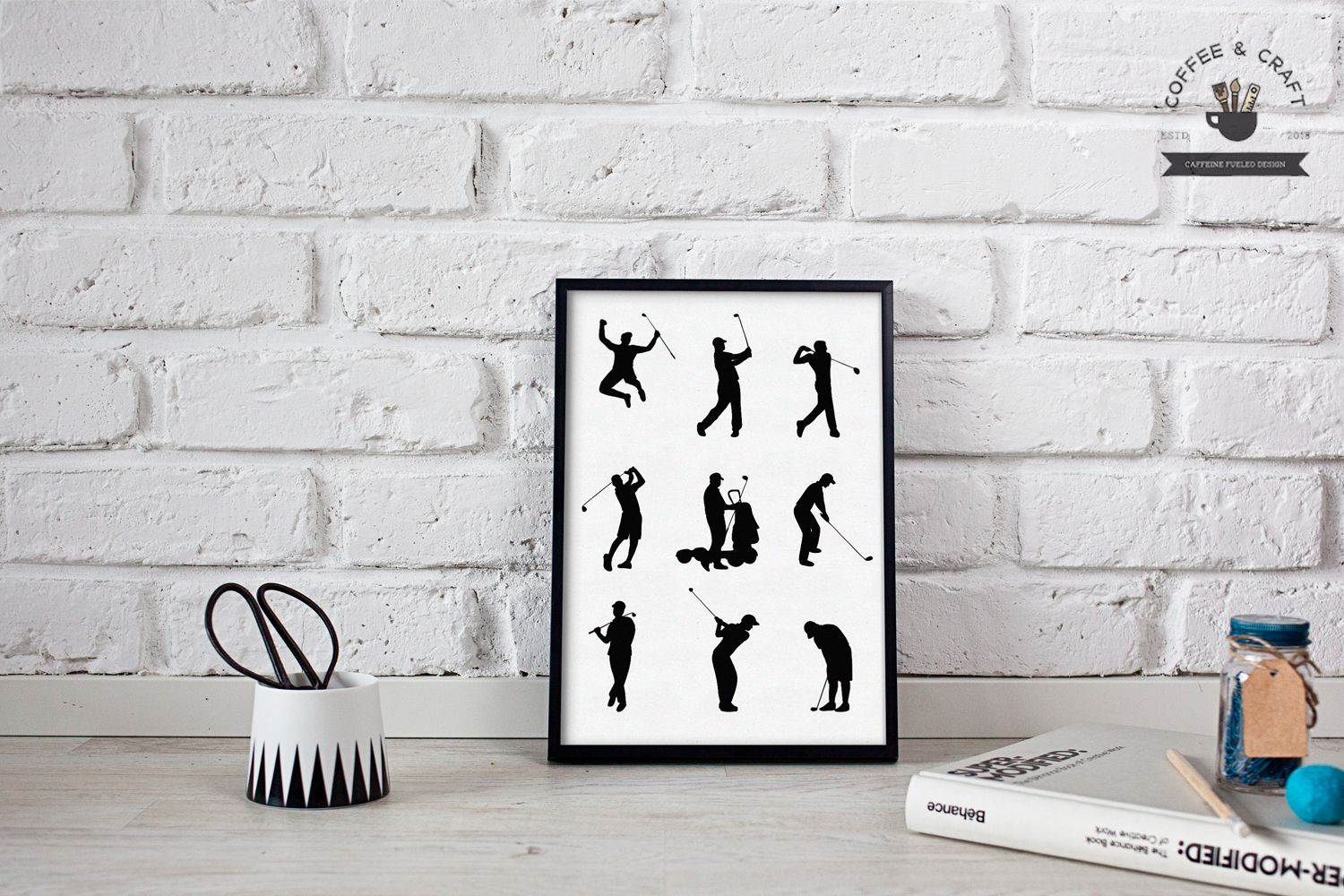 Golfer silhouettes example image 4