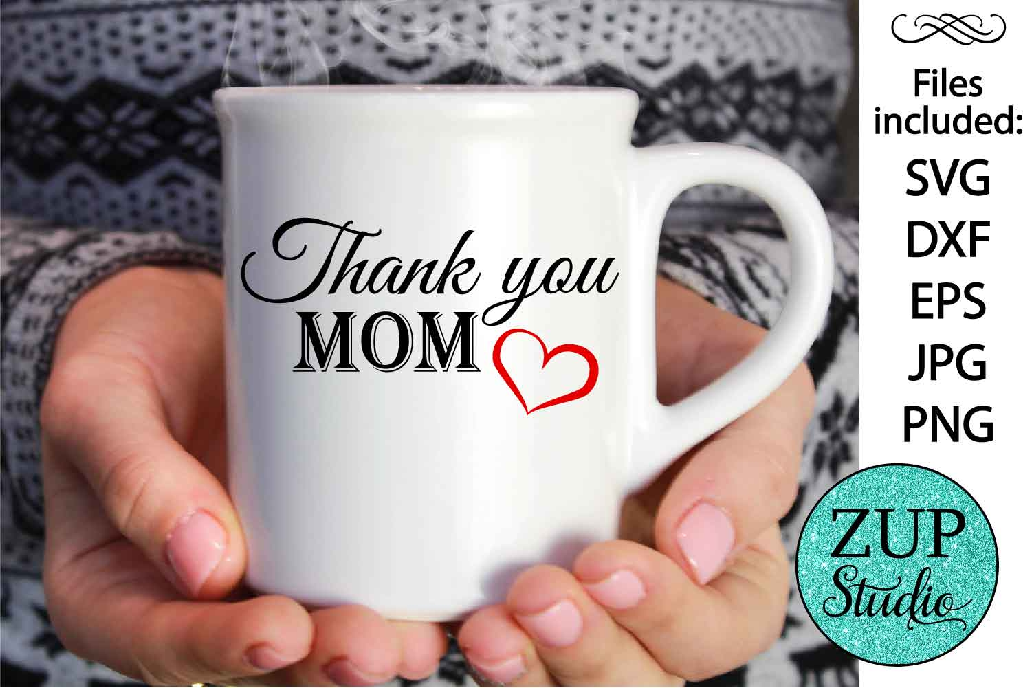 Thank you mom Digital Cutting files file 88 example image 1