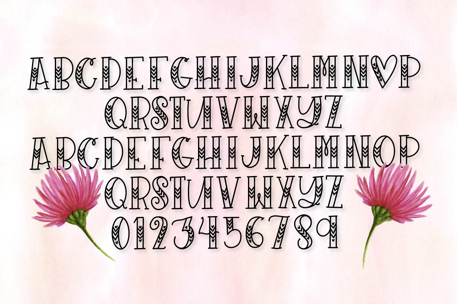 Sugarbug - A Hand Lettered Heart Font example image 3