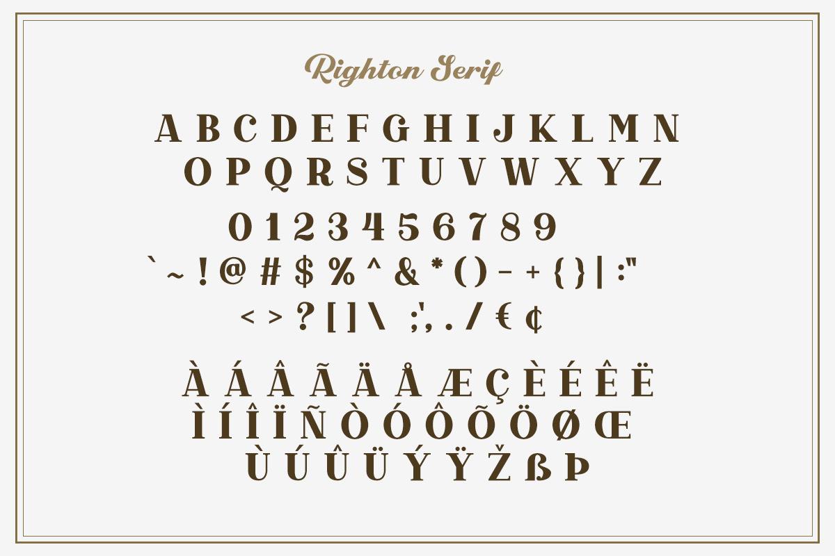 Righton - Script & Serif Font Duo example image 9