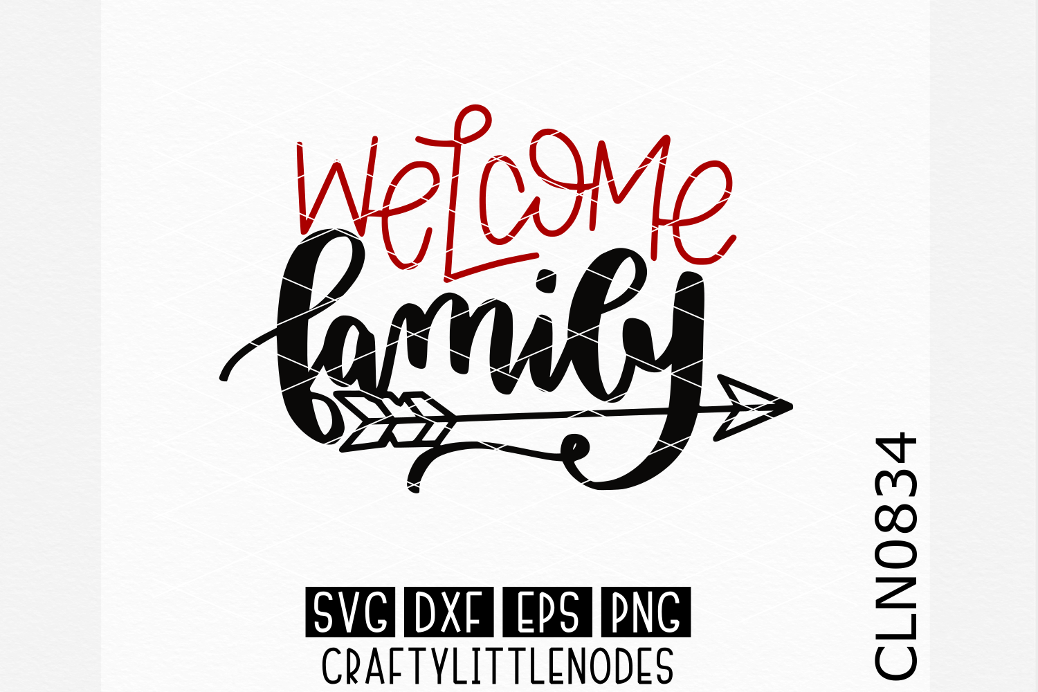 Hand Lettered- Welcome Family example image 1