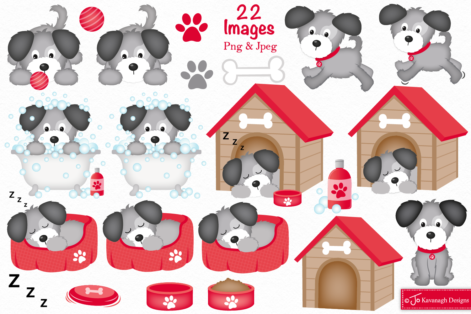 Dog clipart, Dogs -C37 example image 2