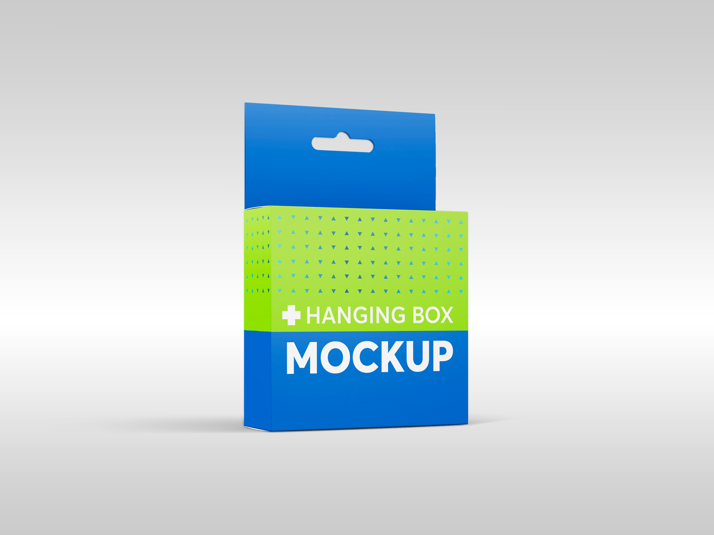 Flat Square Box with Hanger Mockup example image 2