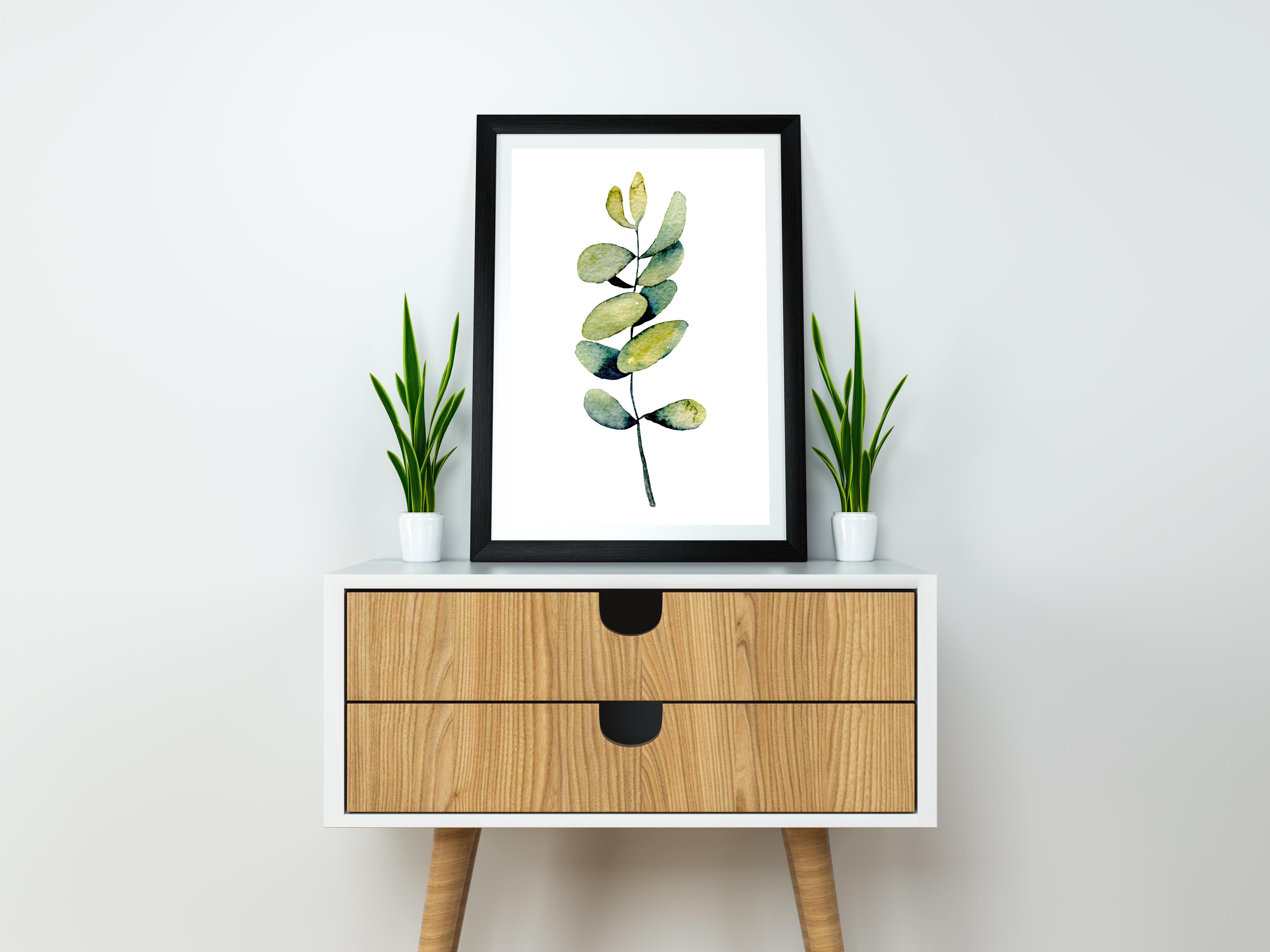 Eucalyptus watercolor clipart example image 5