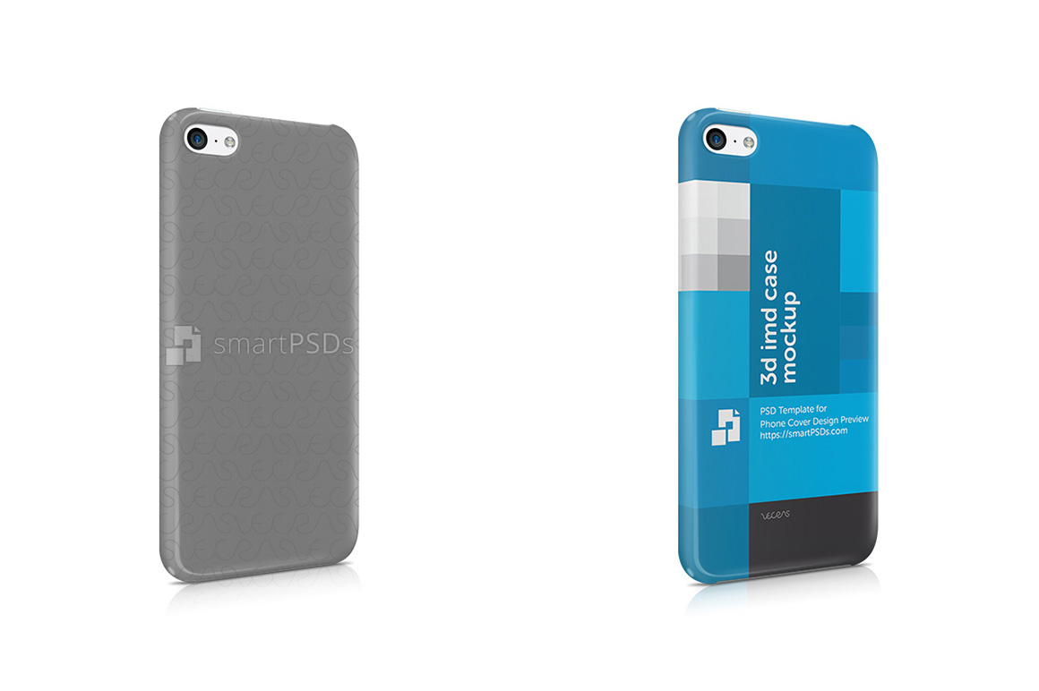 Apple iPhone 5C 3d IMD Mobile Case Design mockup- Right view 2013 example image 1
