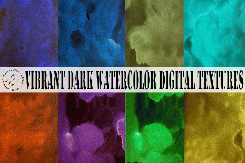 Vibrant Neon Watercolor Digital Paper example image 1