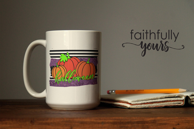 Halloween Pumpkins Sublimation Design PNG JPEG example image 2