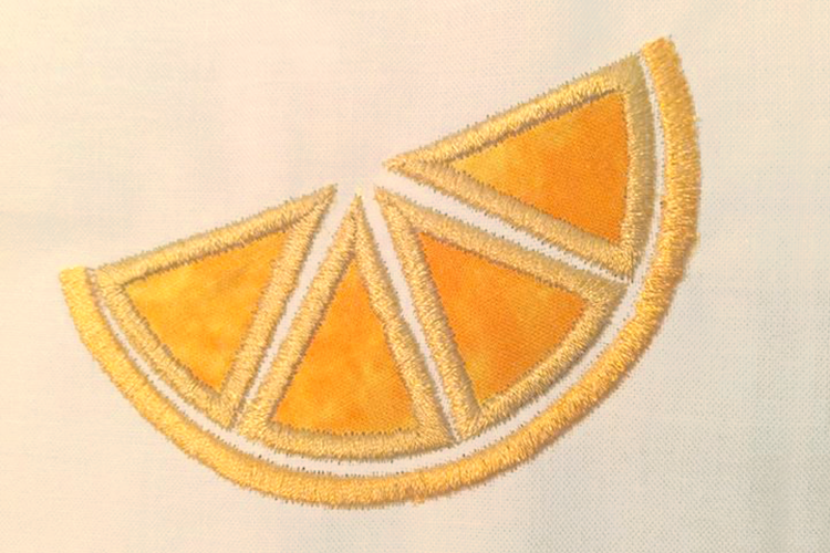 Citrus Slice Applique Embroidery Design example image 4