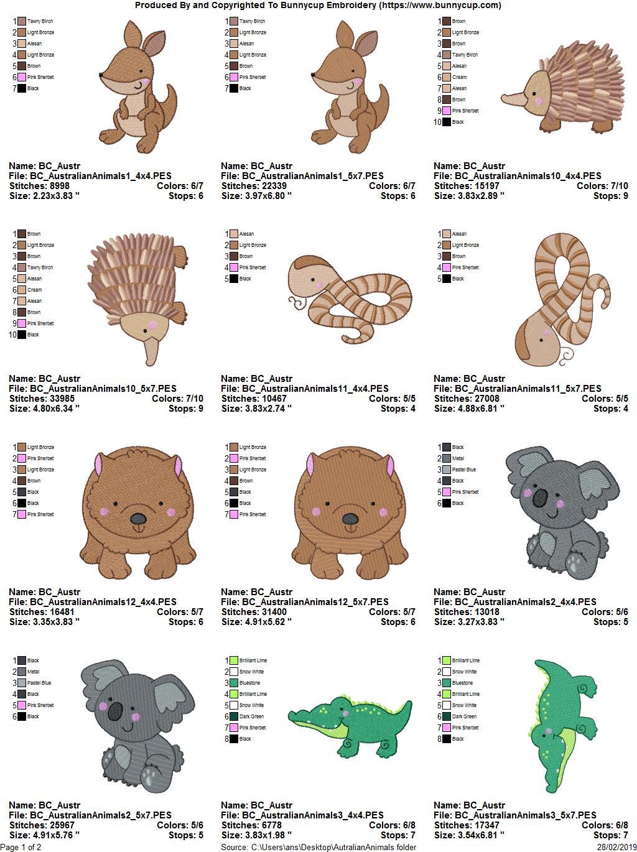 Australian Animals - 12 Machine Embroidery Designs example image 14