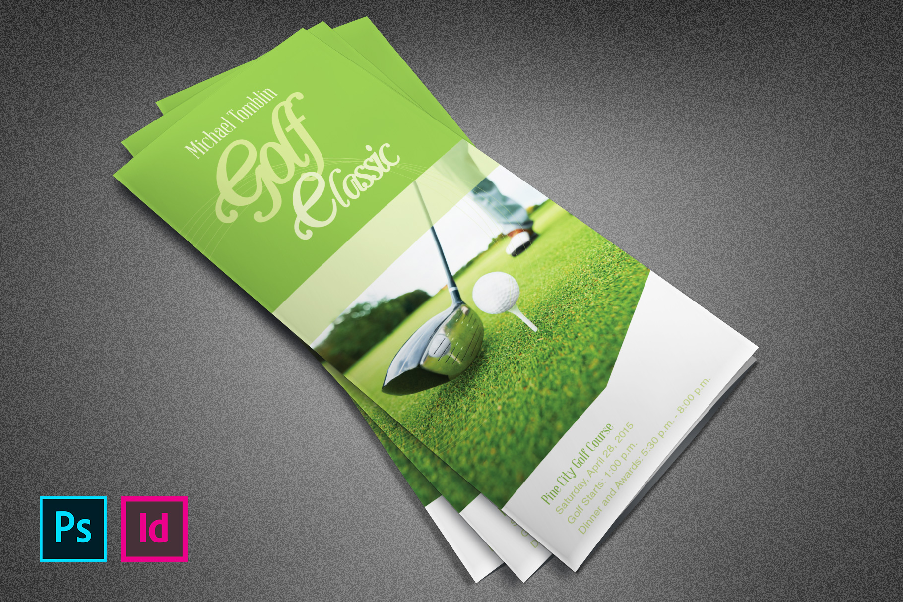 Golf Classic Event Tri-fold Brochure example image 1