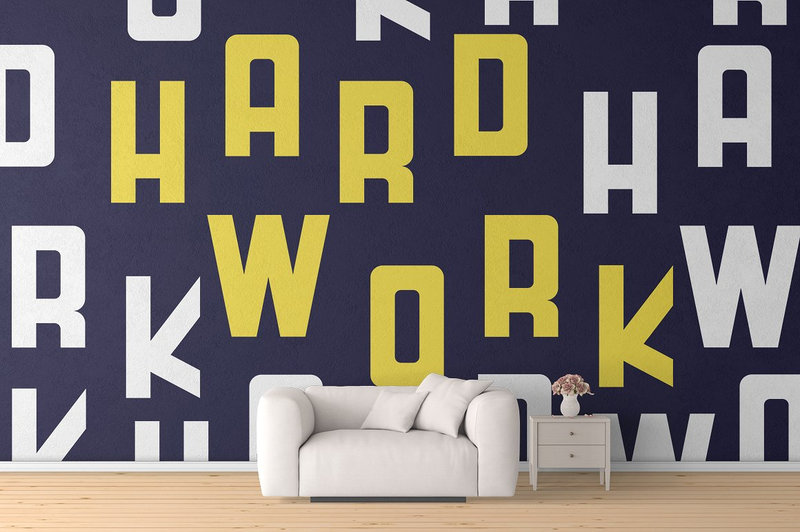 HardWork - Display Font With Styles / Font Logo example image 6