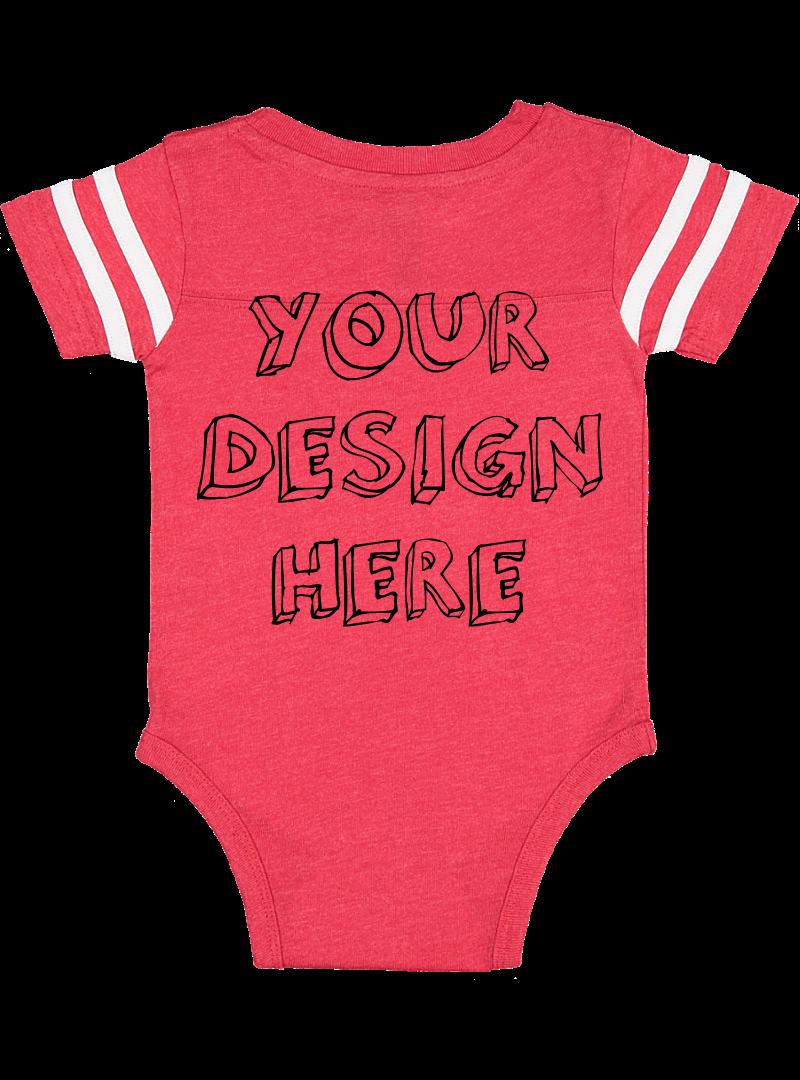 Infant Football Bodysuit Mockups - 12 |PNG|Front/Back - V2 example image 7