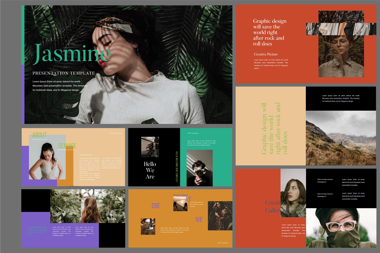 Jasmine Dark Lookbook - Fashion Google Slides example image 2
