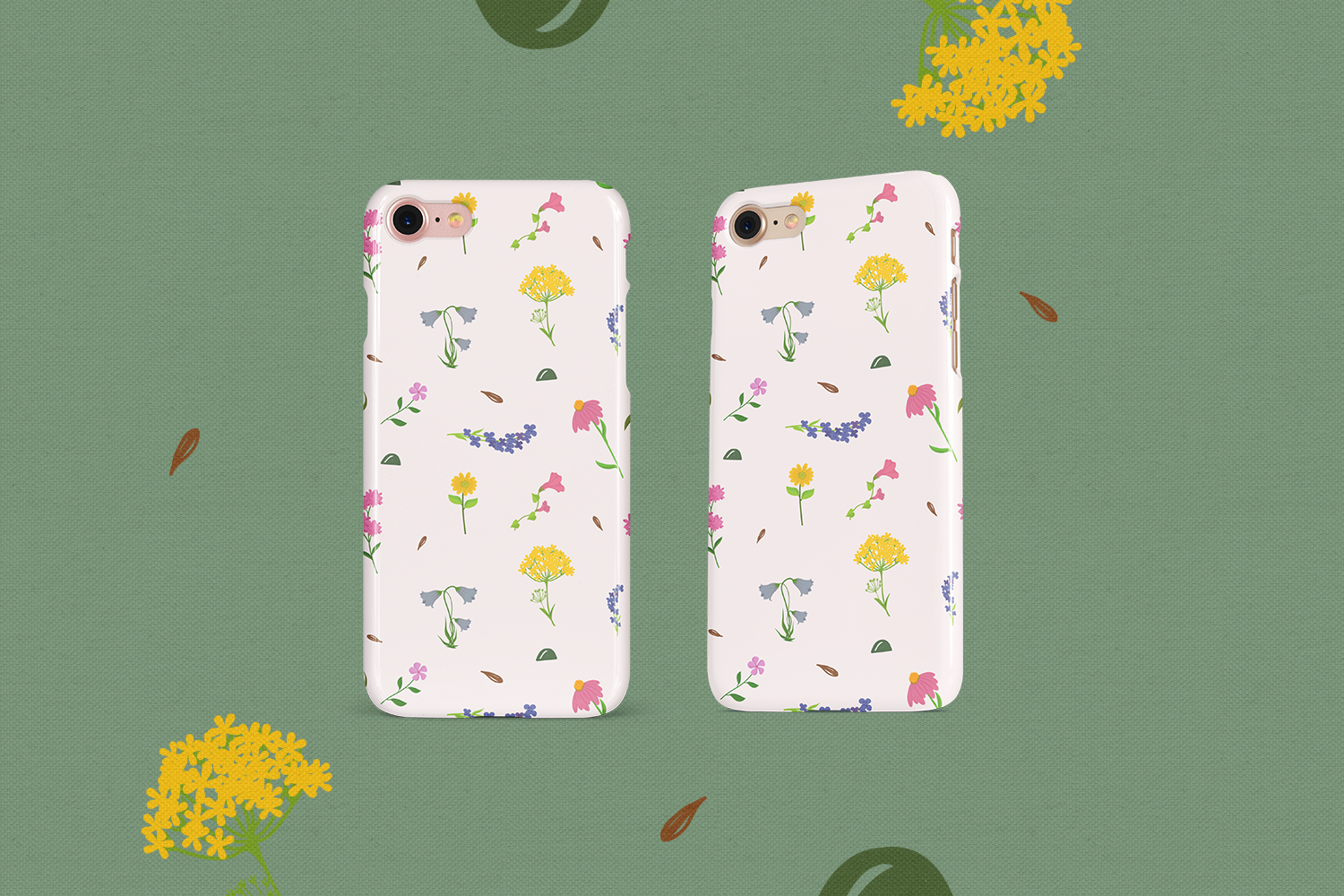 80 Flower Lover Vector Clipart & Seamless Patterns example image 4