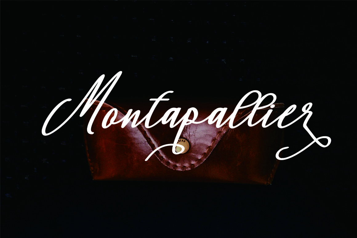 Montapallier script 2 style example image 8