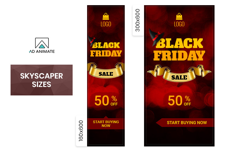 Black Friday Sale Animated Ad Banner Template example image 3
