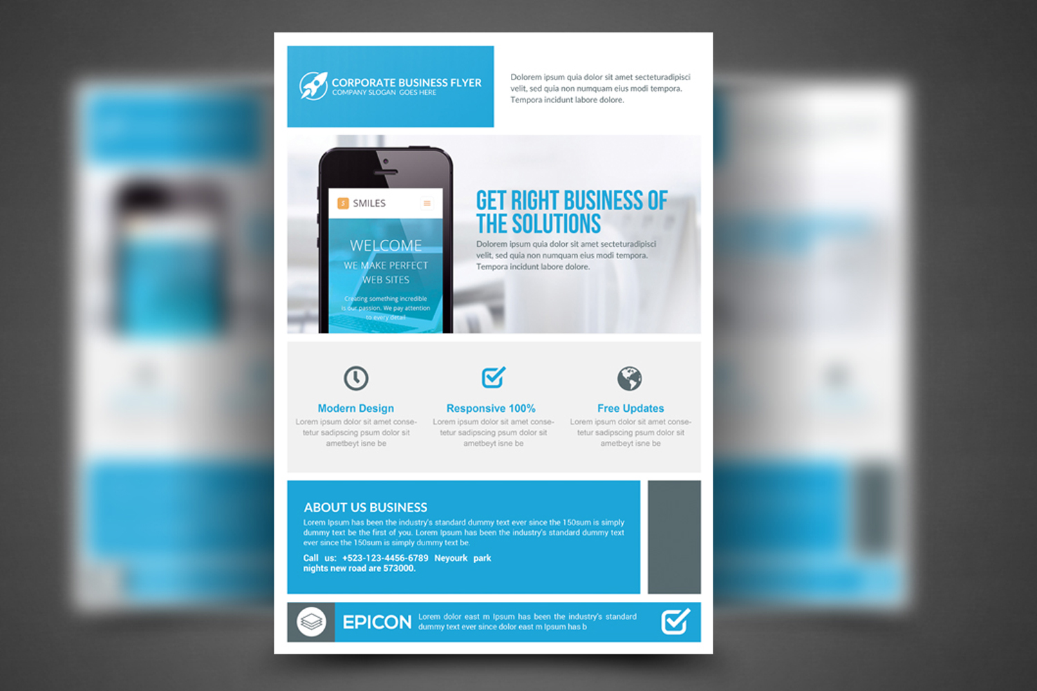 Modern Corporate Flyer Template example image 1