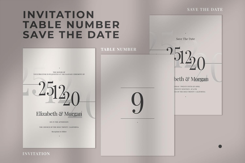 Modern Minimalist Wedding Suite example image 2