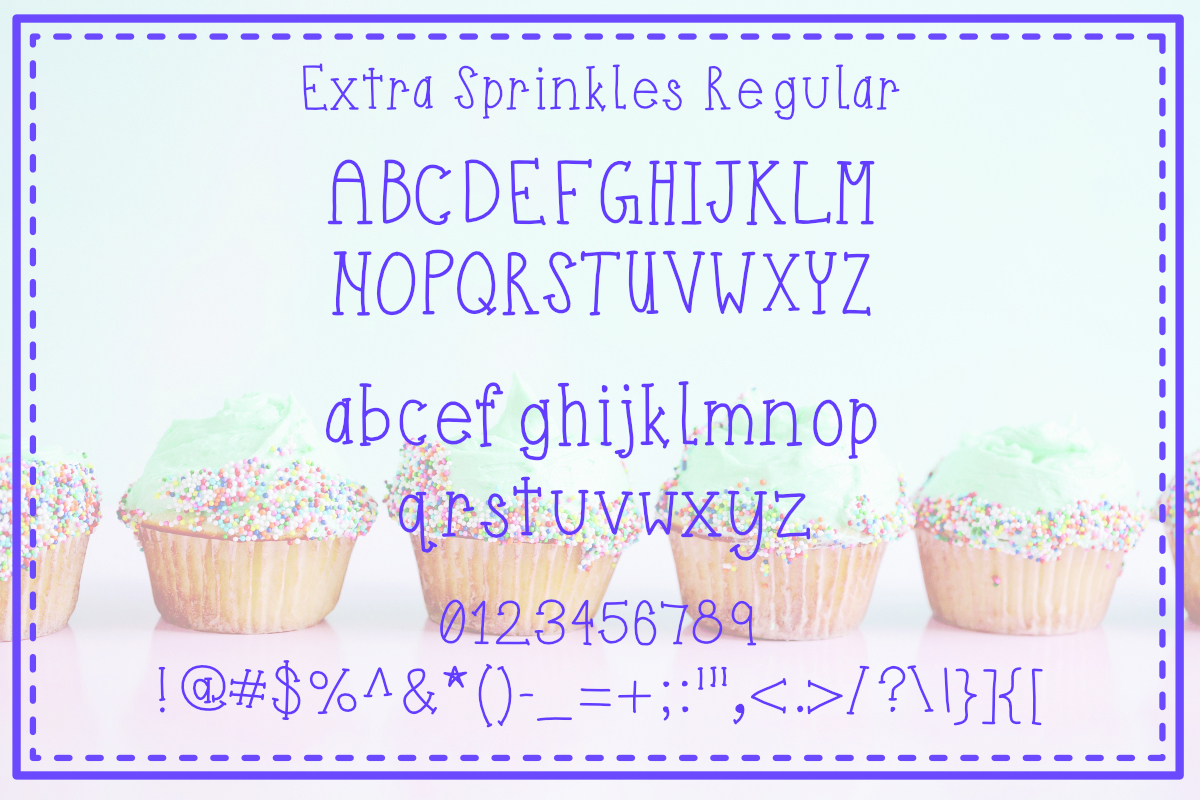 Extra Sprinkles Font Trio example image 3