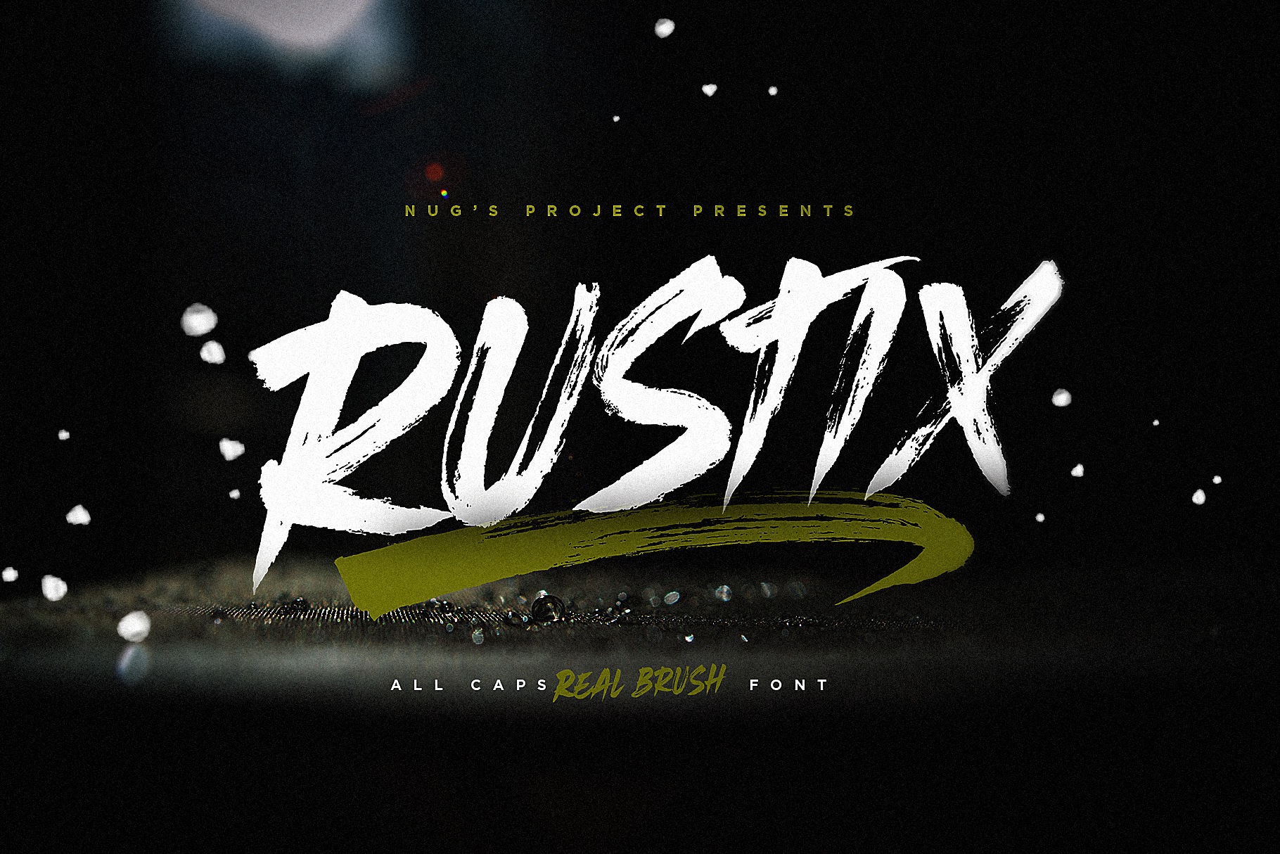Rustix Brush font example image 1