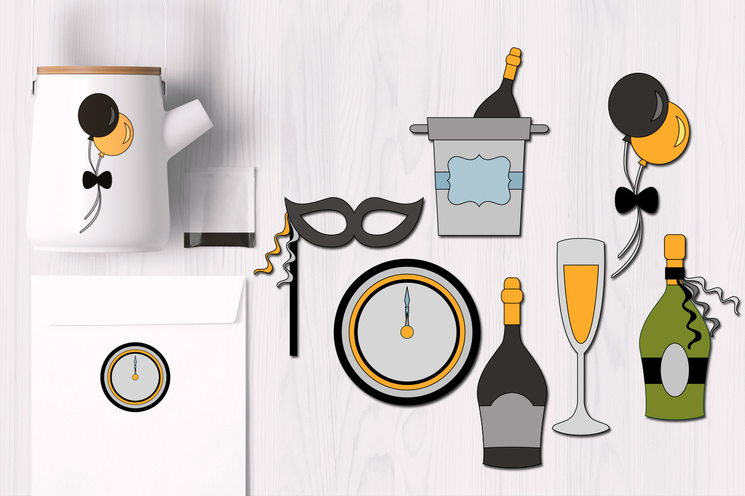 New Year Party Illustrations example image 1