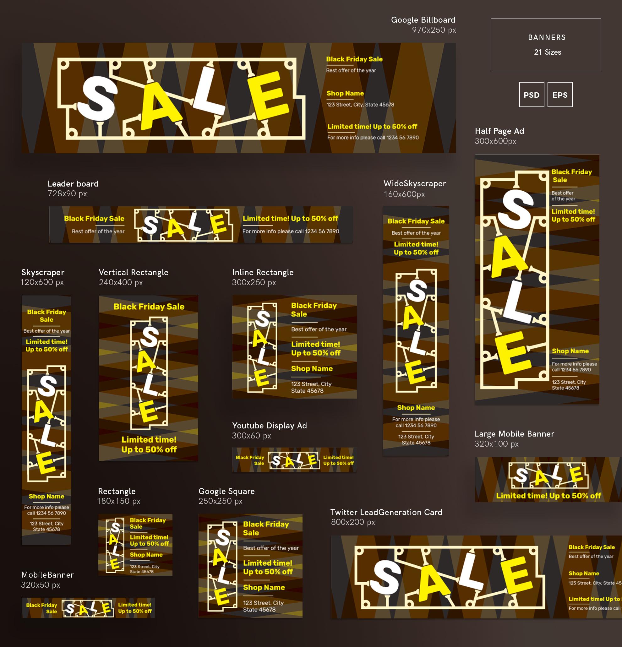 Black Friday Sale Design Templates Bundle example image 5