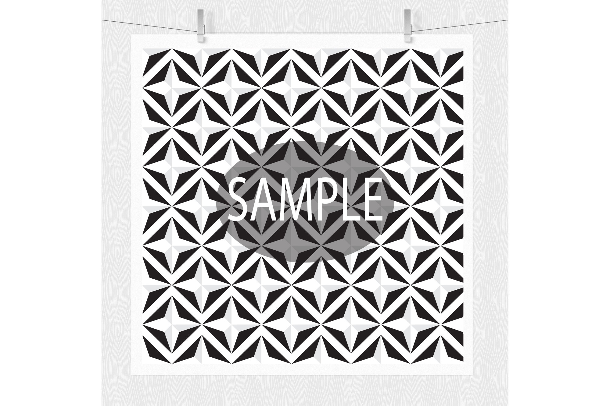 Black and White Digital Paper  example image 5