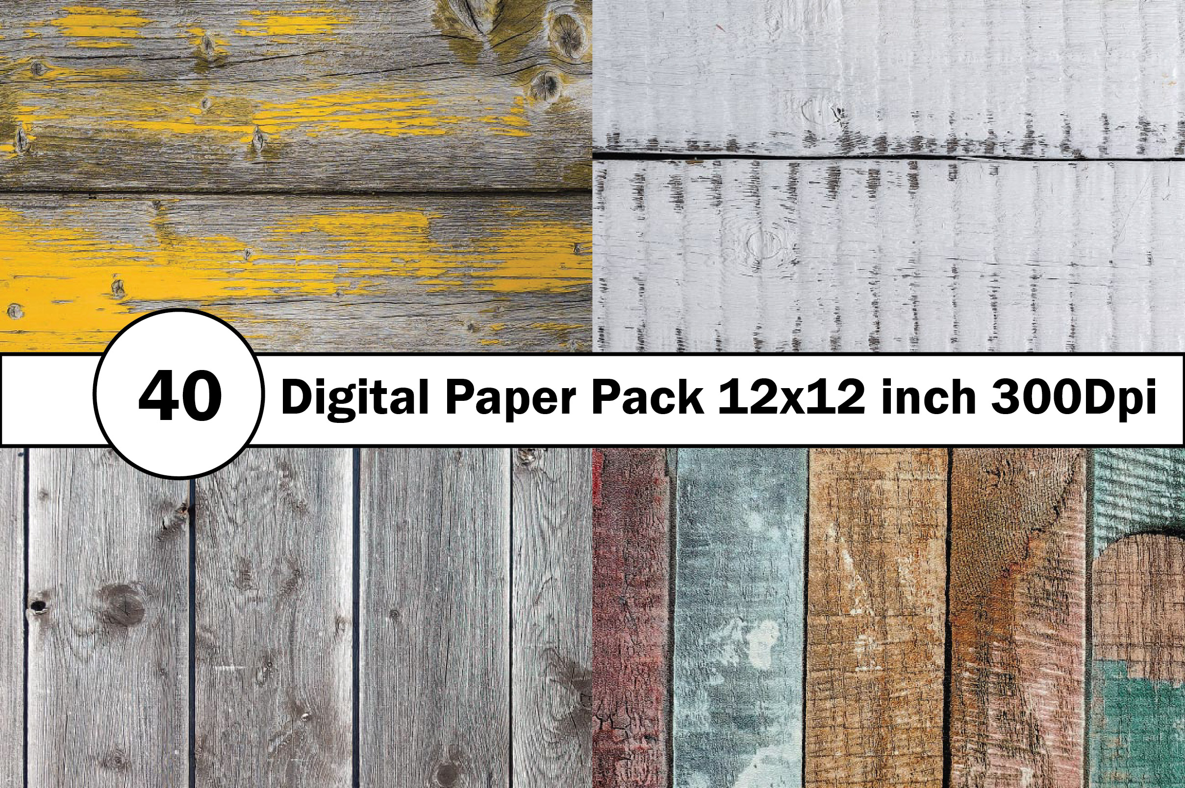 40 Digital Paper Pack 12x12 inch 300 Dpi example image 8