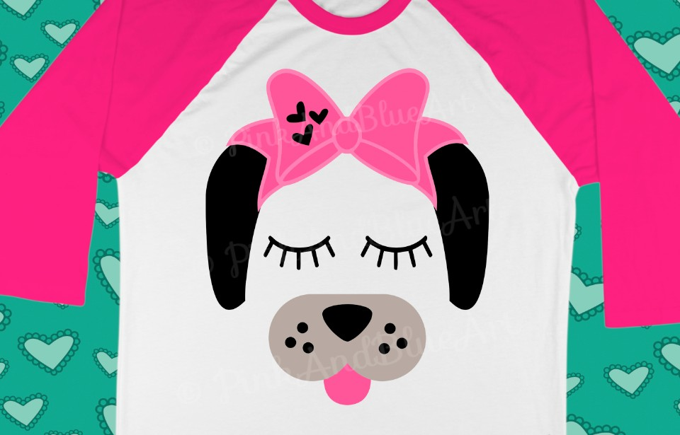 Dog Bow Birthday Cute Popular Girl svg shirt design example image 1