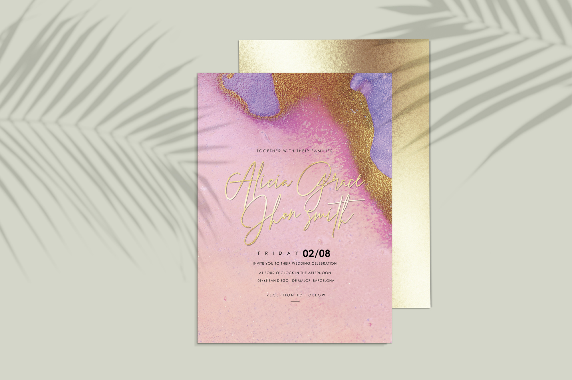 Gold Watercolor and Foil Textures BUNDLE example image 3