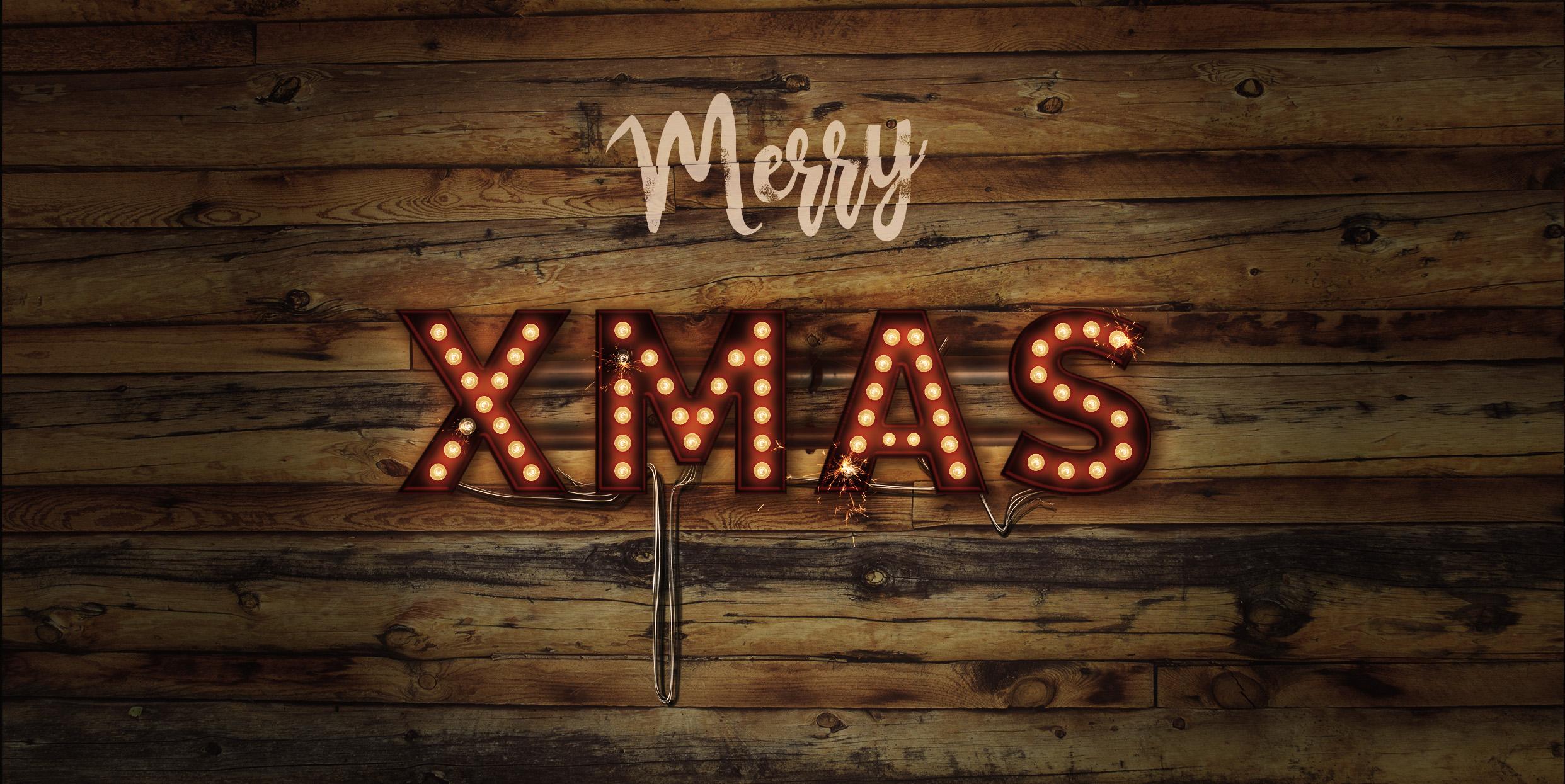 Lightbulb Merry Christmas Signs | 14-Image Bundle example image 8