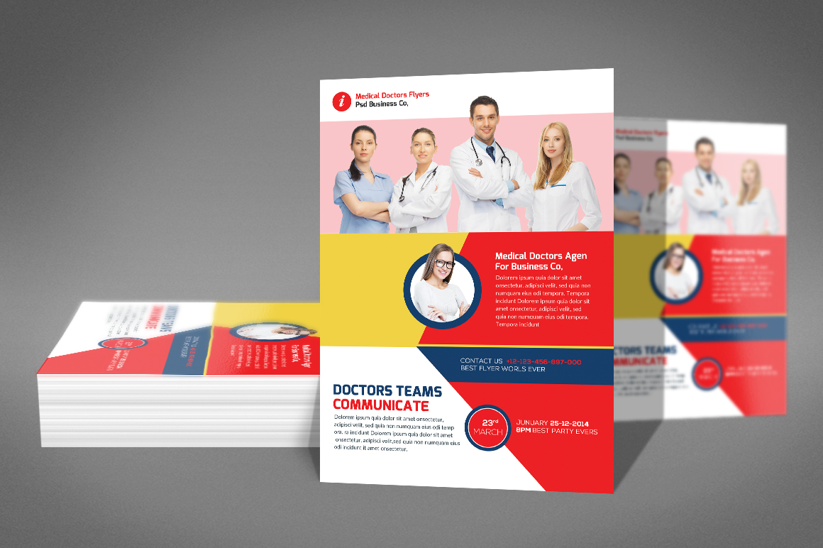 Medical Doctors Flyer psd example image 2
