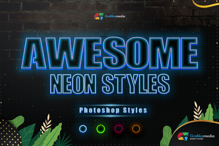 Neon Styles Effect For Photoshop example image 1