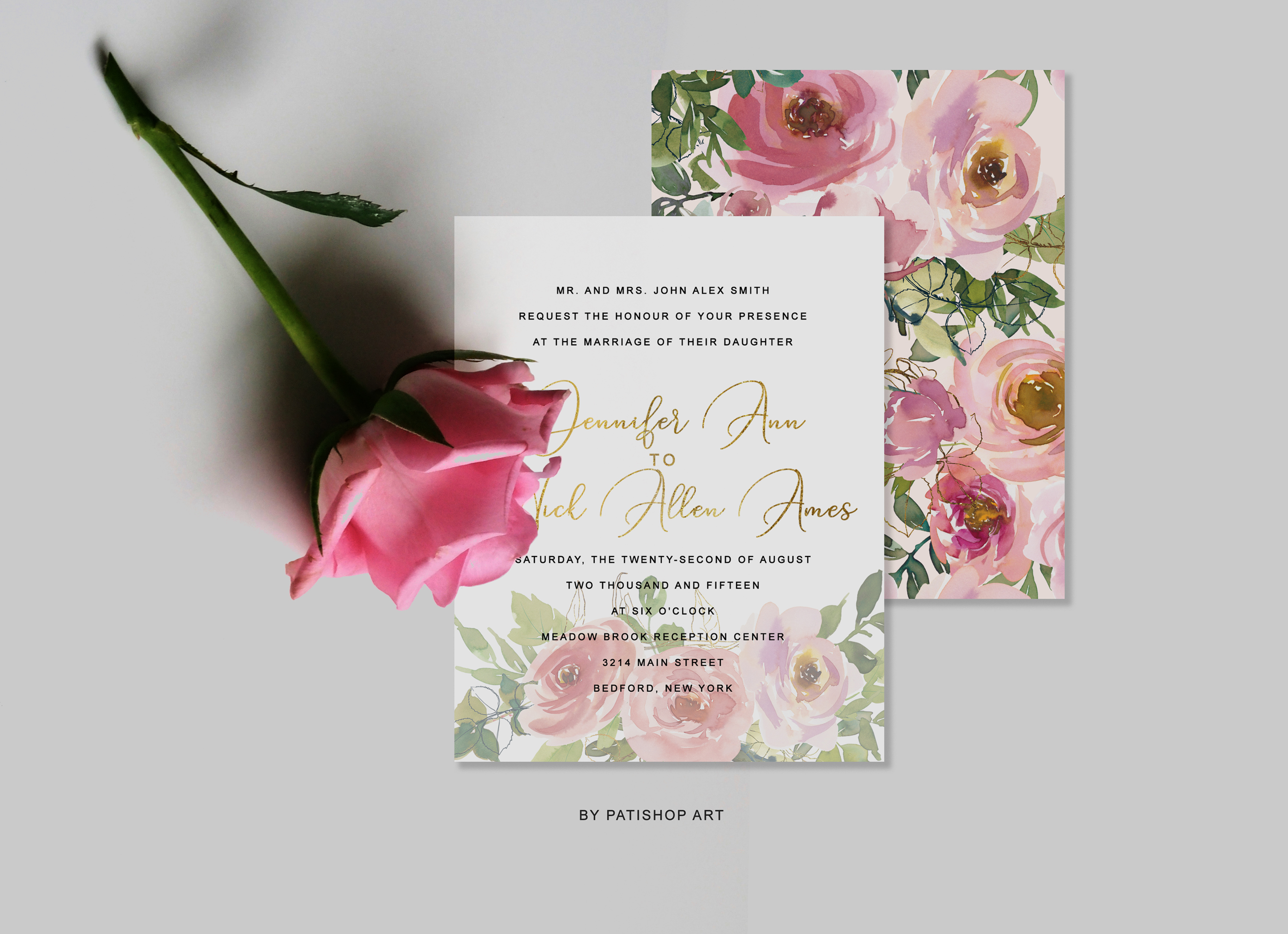 Blush and Peach Watercolor Floral Clipart Collection example image 10