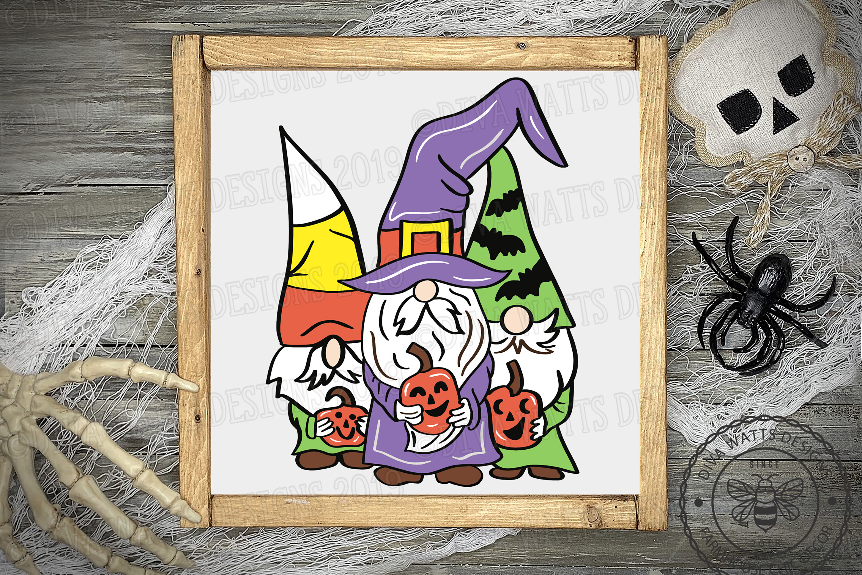 Halloween Gnomes Gnome Crew Cutting File example image 3