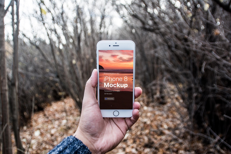 Presentation Kit - iPhone showcase Mockup_v7 example image 2