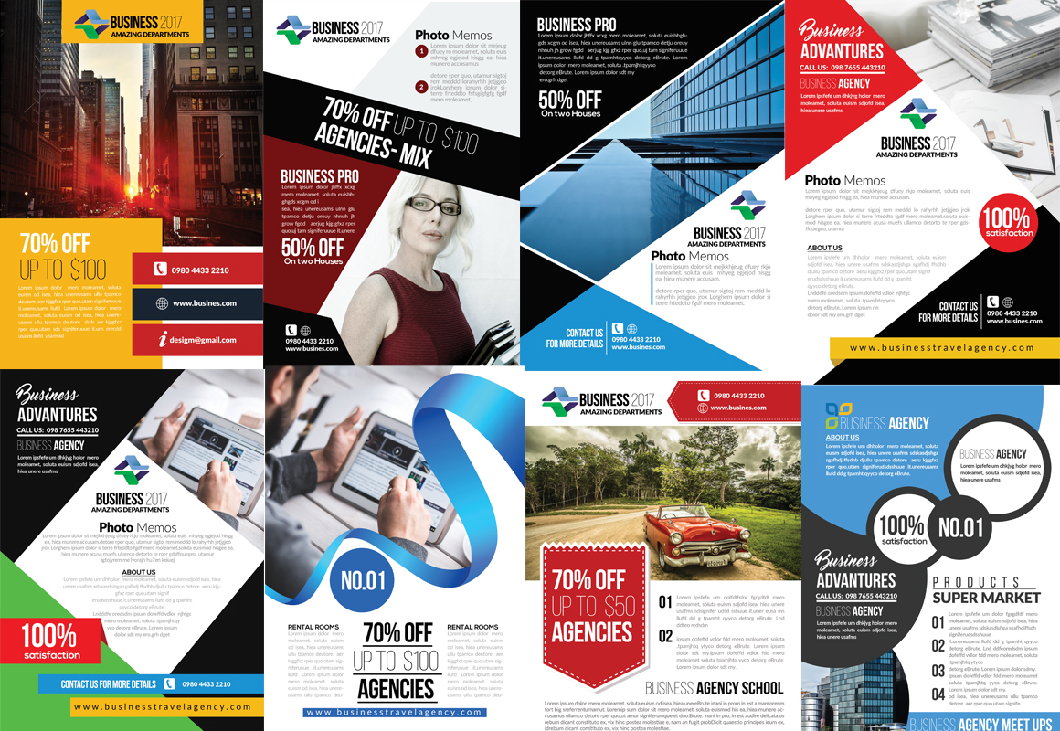 50 Business Flyers pack example image 3