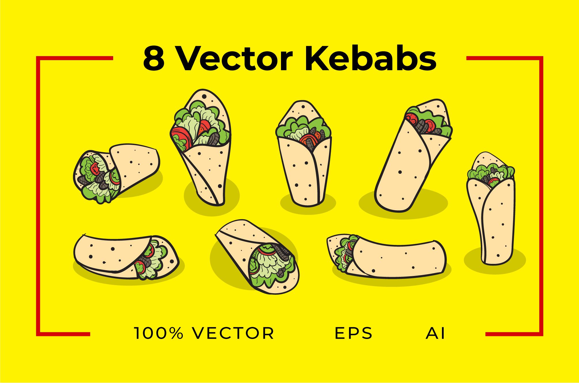8 Kebab Vectors example image 1