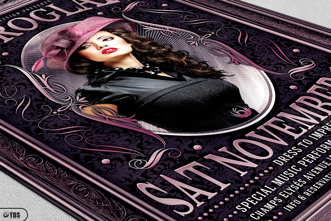 Retro Glam Flyer Template V3  example image 5