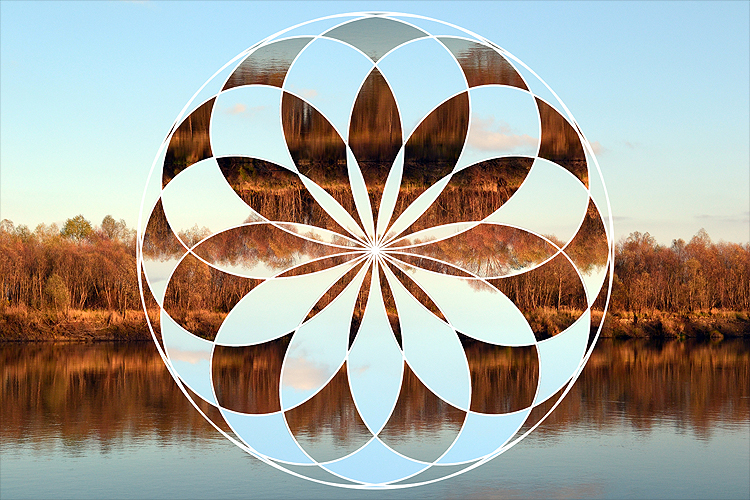 Flower of Life - 4 Photoshop Circular Dispalcement Actions example image 4