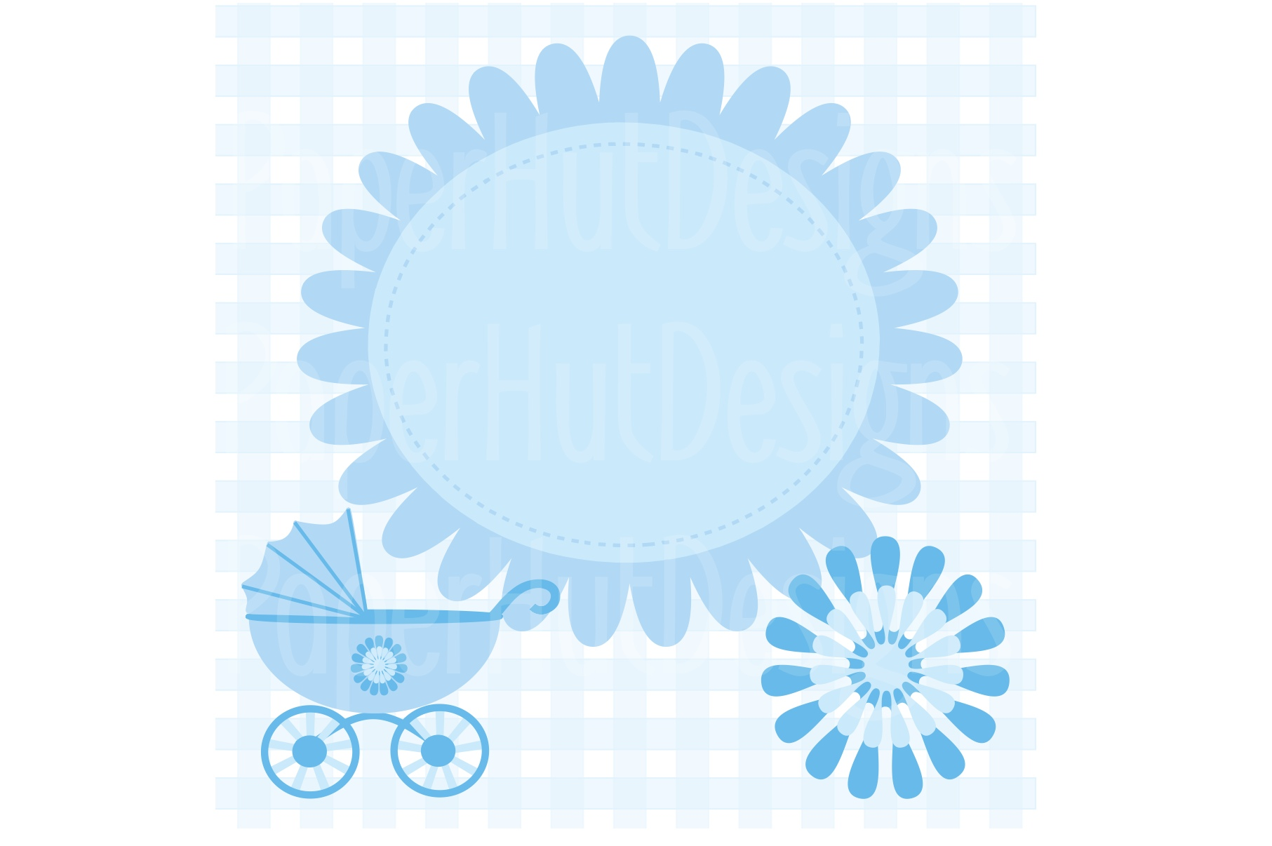 Baby Boy Clipart and Digital Papers Set example image 3