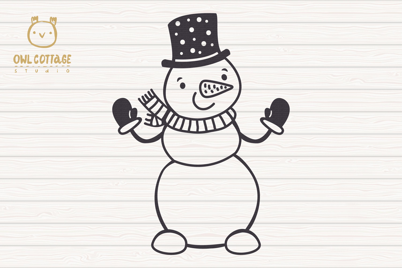 Let it Snow SVG Snowman, Snowman SVG, Christmas SVG example image 2