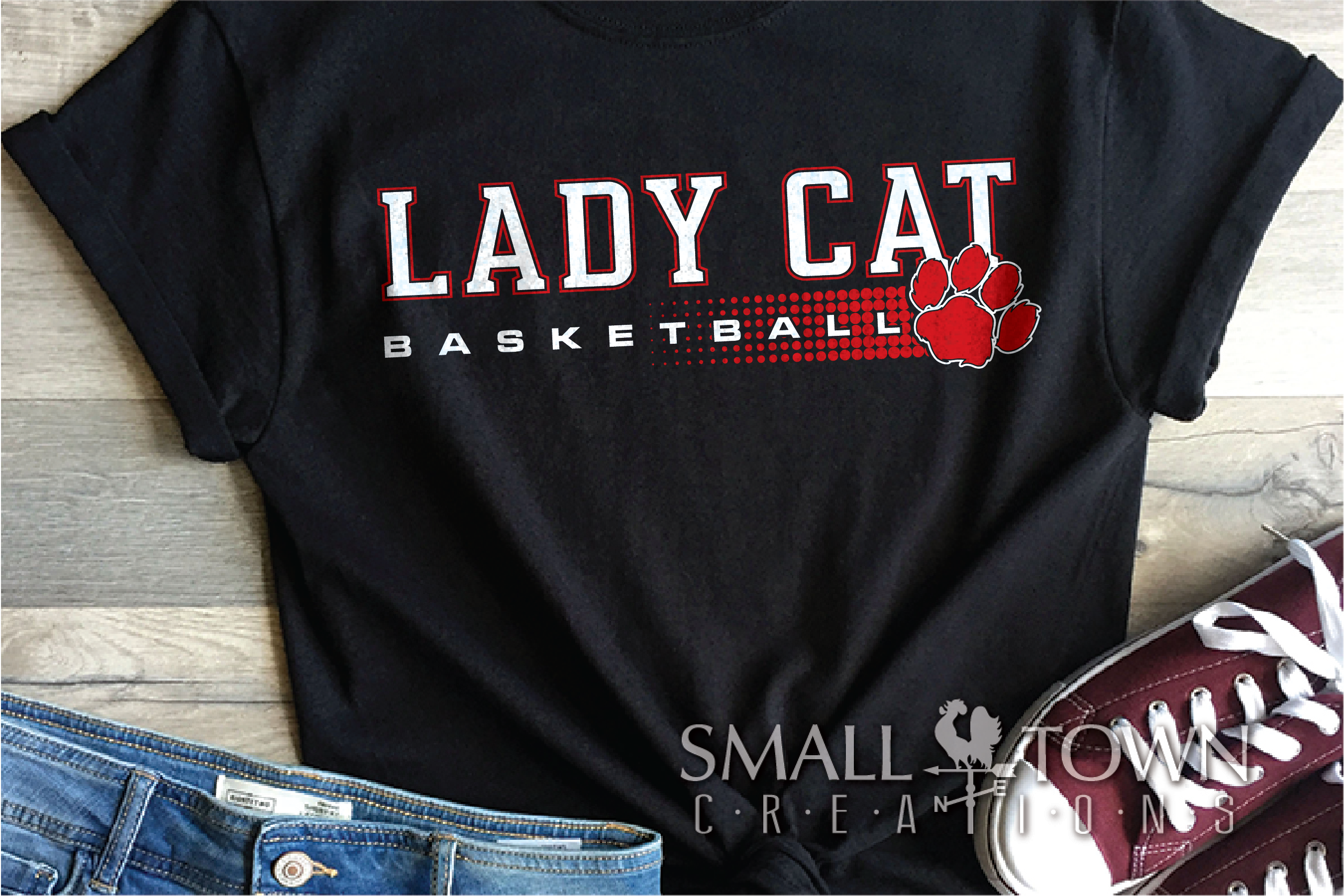 Lady cat, Basketball, Team, Sport, Design, PRINT, CUT, DESIG example image 1