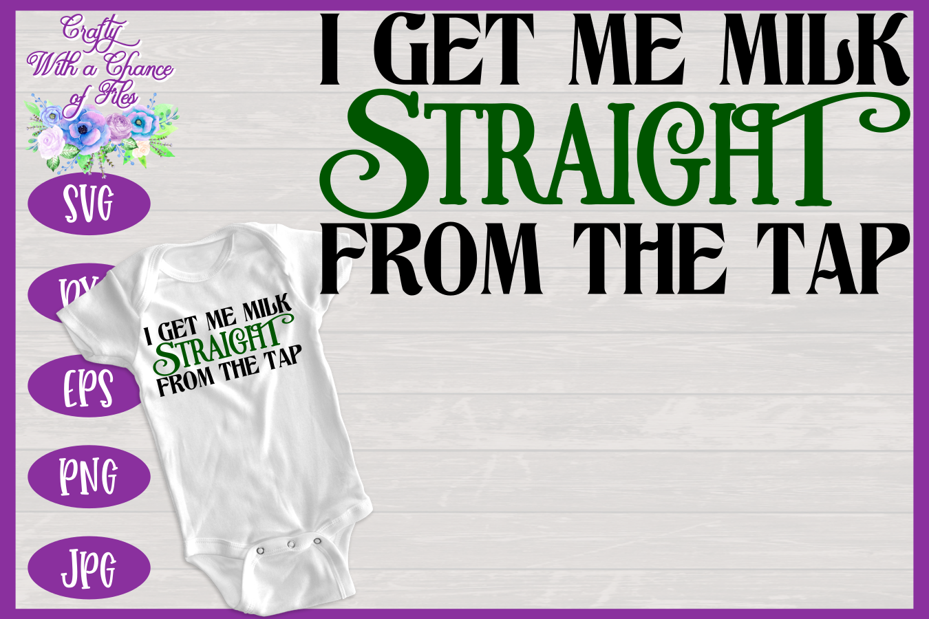 Funny Breastfeeding SVG - St Patrick's Day Baby Design example image 1