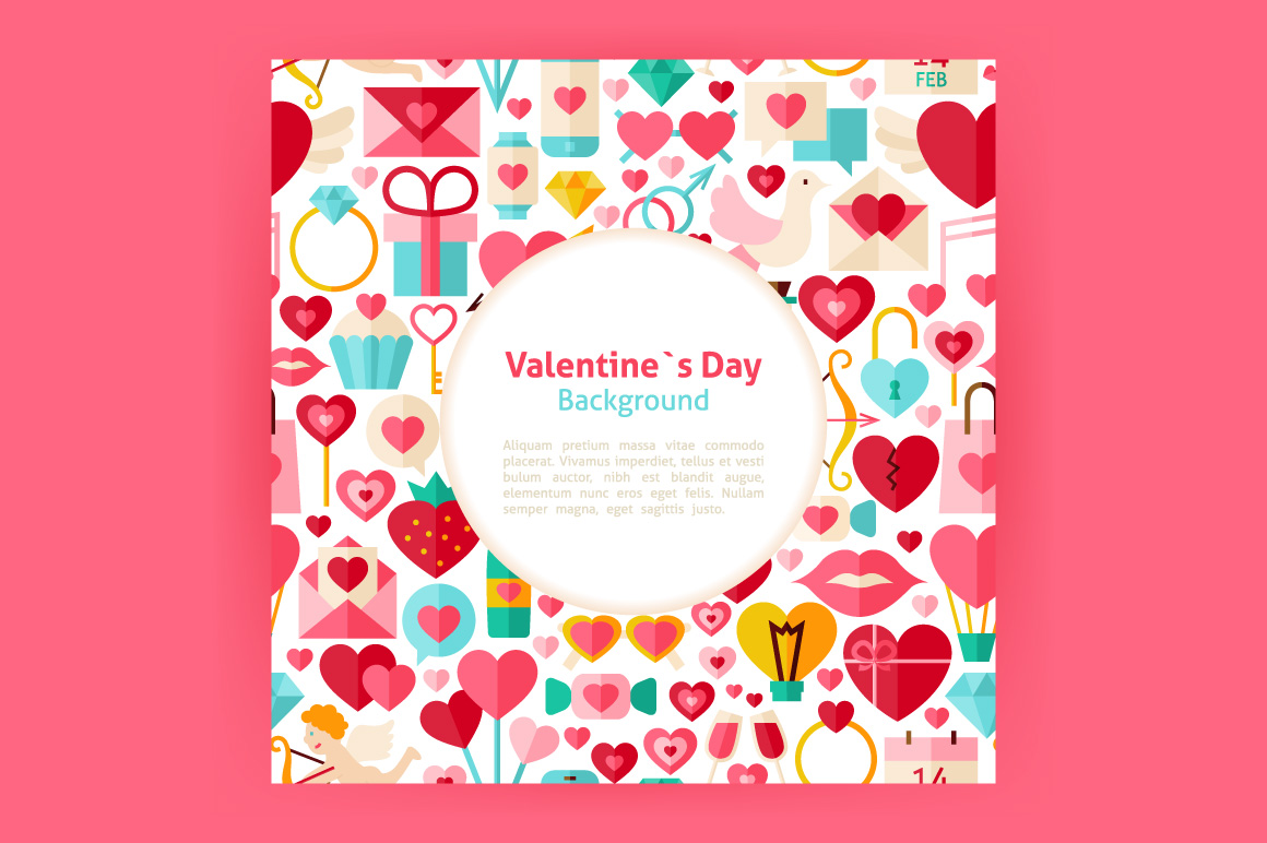 Valentine Day Vector Posters example image 5