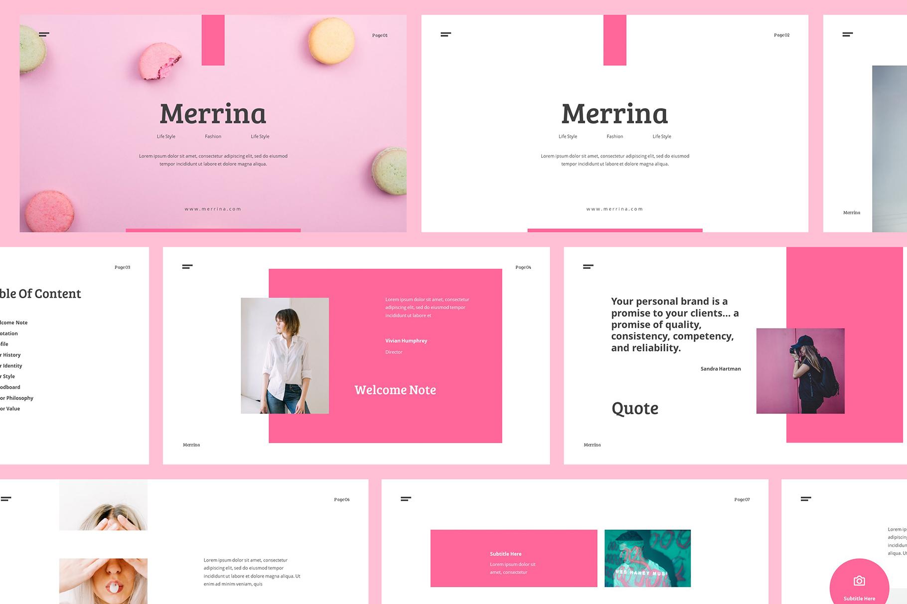 Merrina - Brand Guideline Keynote example image 2