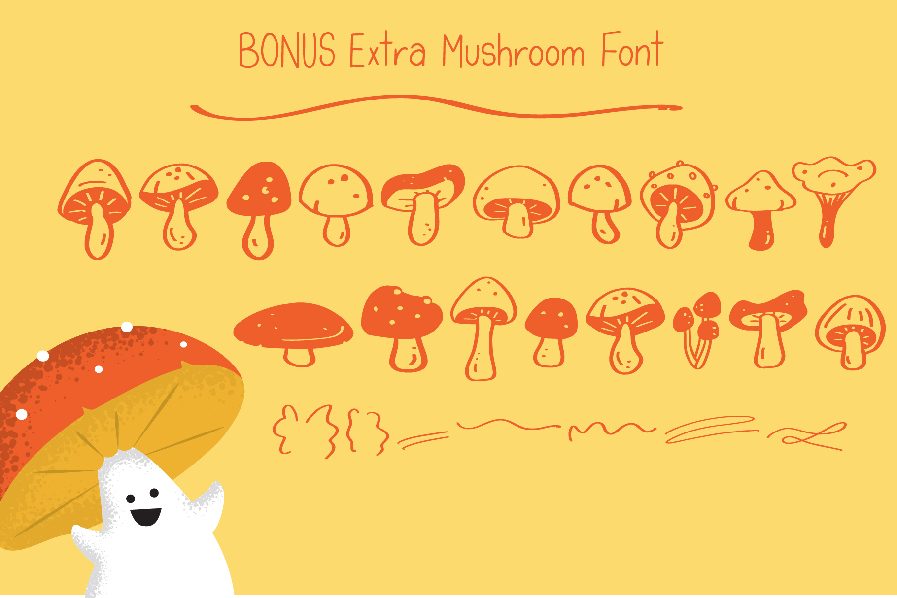 Mushroom Growing Script Font example image 4