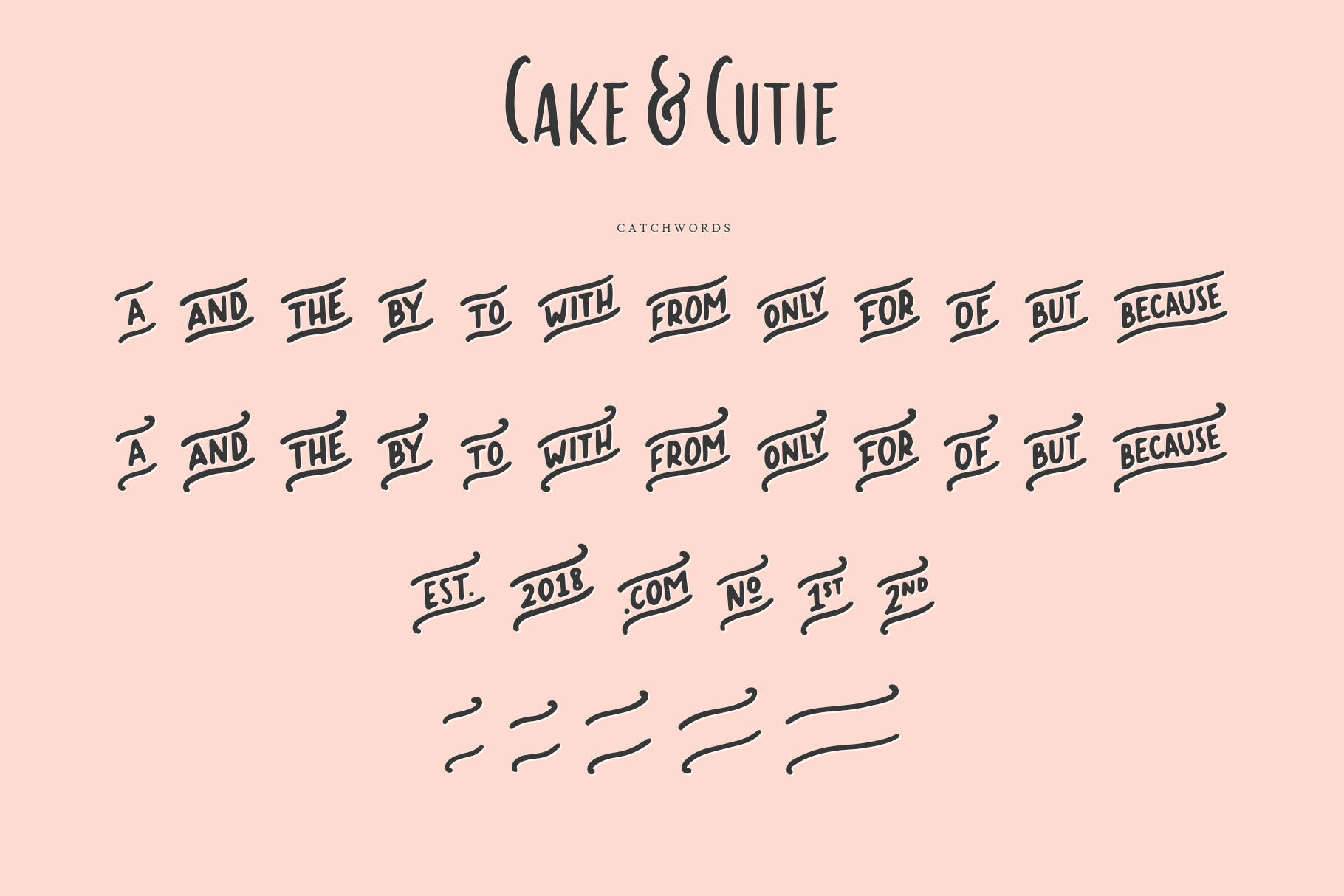 Cake & Cutie | A Handwritten Typeface example image 8