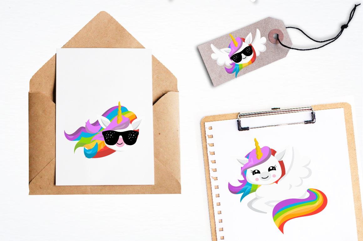 Rainbow Unicorns graphics and illustrations example image 4