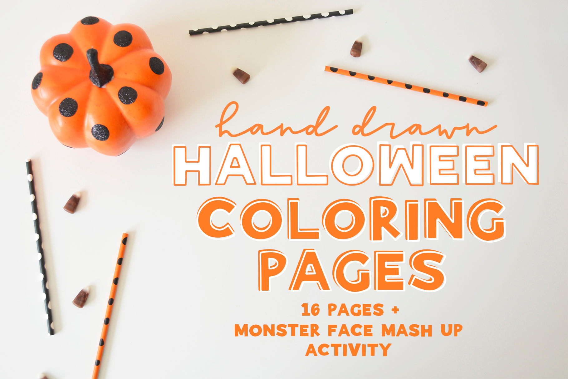 Halloween Coloring Pages & Activity example image 1